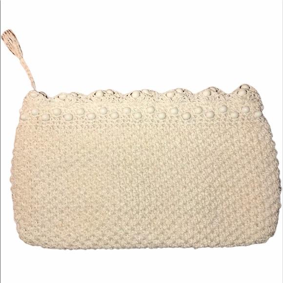 Vintage Handbags - Vintage Woven and Bakelite Clutch, Made in Japan